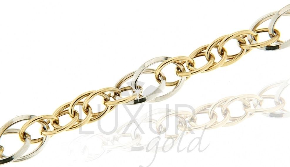 Mohutný ozdobrný zlatý pánský náramek 585/20cm 1440451-5-20-0