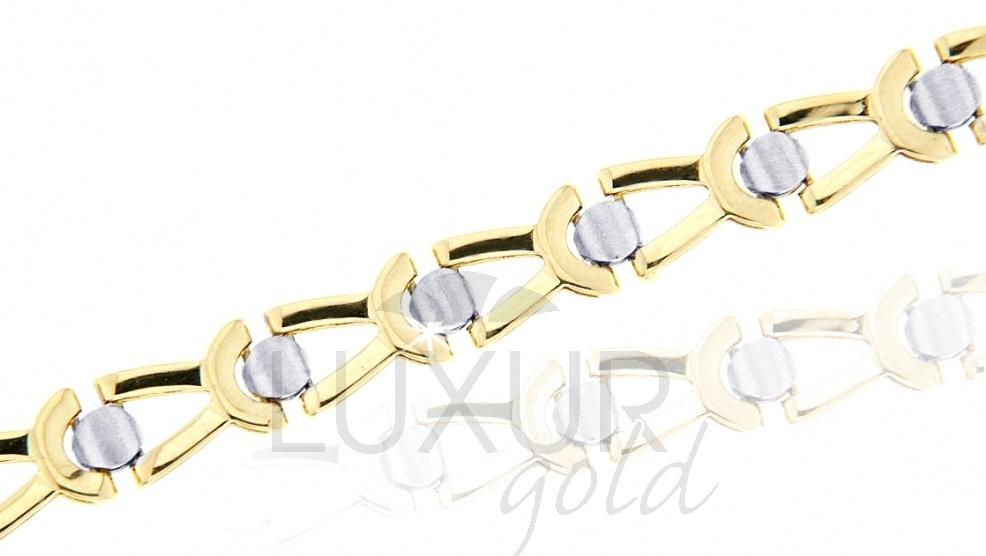 Mohutný silný ozdobný zlatý náramek 585/18cm 1440479-6-18-0