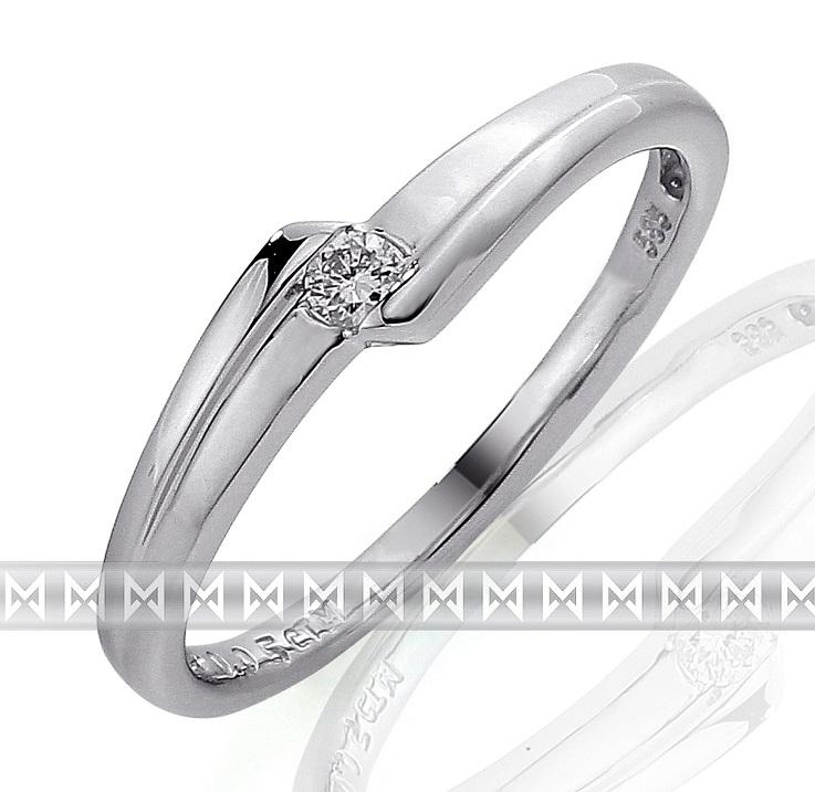 Zásnubní prsten s diamantem, bílé zlato brilianty - diamant 585/1,95 gr 3860694 (3860694-0-54-99)