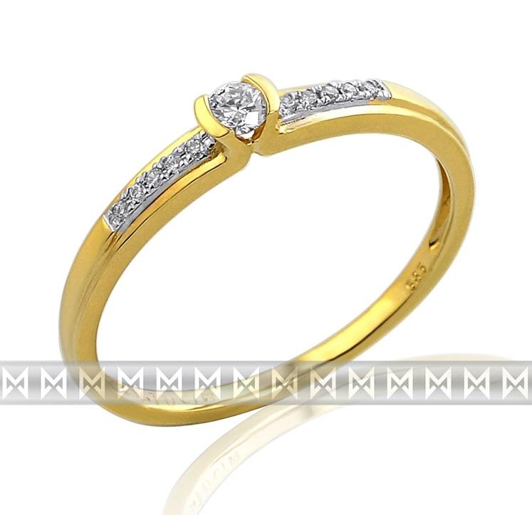 Luxusní zásnubní diamantový prsten GEMS diamonds, žluté zlato 3810827-5-54-99