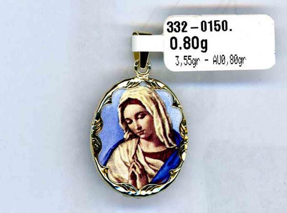 Luxusní zlatý přívěsek - velká zlatá smaltovaná madonka 3,55gr 3320150-0-0-0
