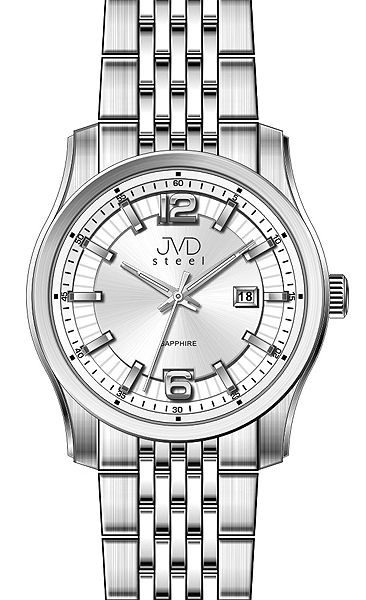 Pánské ocelové moderní náramkové hodinky JVD Steel W43.1 - stroj SEIKO 5ATM