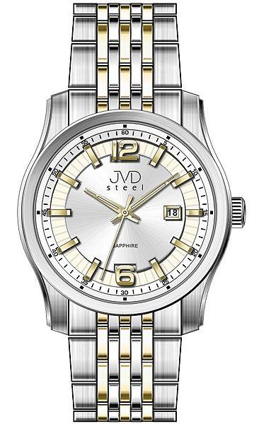 Pánské ocelové moderní náramkové hodinky JVD Steel W43.2 - stroj SEIKO 5ATM