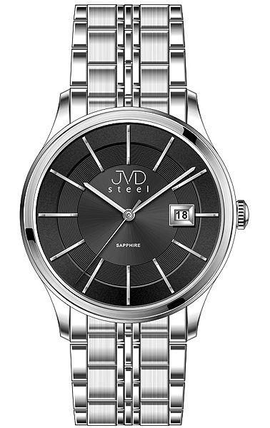 Luxusní hodinky JVD Steel W46.1 se safírovým sklem 5ATM