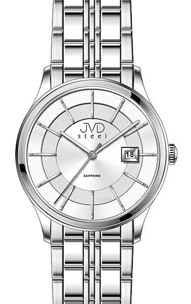Luxusní hodinky JVD Steel W46.2 se safírovým sklem 5ATM