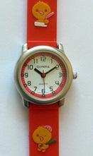 Dětské dívčí červené hodinky Olympia 41006 3ATM pro holky