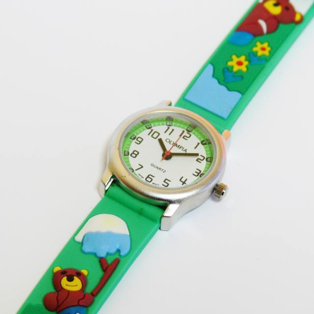 Dětské dívčí zelenkavé hodinky Olympia 41003 3ATM