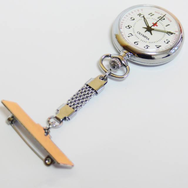 Luxusní stříbrné kapesní hodinky Olympia 50239 čitelné na závěsu