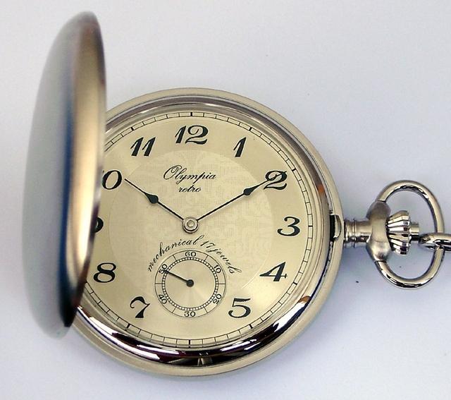 Luxusní mechanické Olympia kapesní hodinky 35031 s ručním natahováním