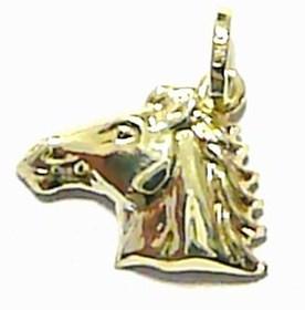 Zlatý přívěsek ze žlutého zlata - hlava koně 585/0,6gr T095
