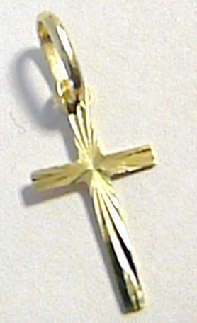 Zlatý přívěsek - zlatý křížek s gravírováním 585/0,30gr T106