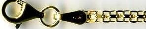 BISMARK & ROMBO DOPPIO zlatý řetízek náramek dle vlastní délka v cm BK2F 035