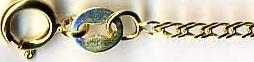 BISMARK & ROMBO DOPPIO zlatý řetízek náramek dle vlastní délka v cm RD 025 2L