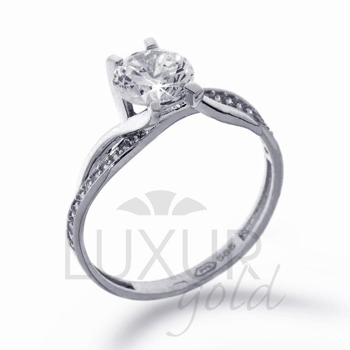 Zásnubní prsten bílé zlato se zirkonem 1261091-0-51-1