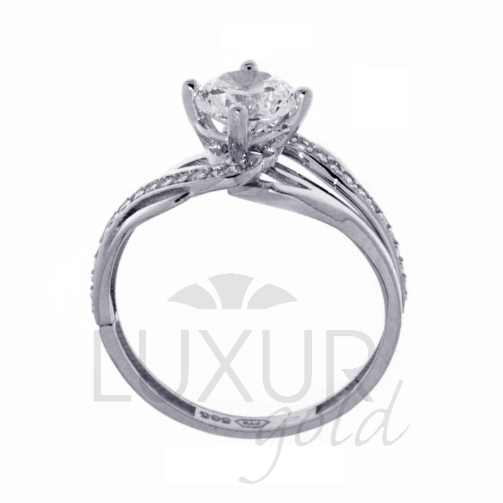 Zásnubní prsten bílé zlato se zirkonem 1261107-0-53-1