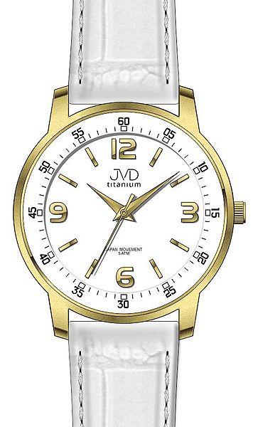 Bílé titanové moderní odlehčené hodinky JVD titanium J2017.3 - 5ATM