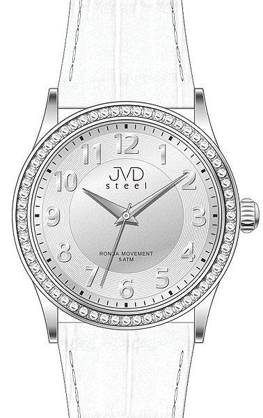 Dámské elegantní náramkové hodinky JVD steel J1085.3 se zirkony