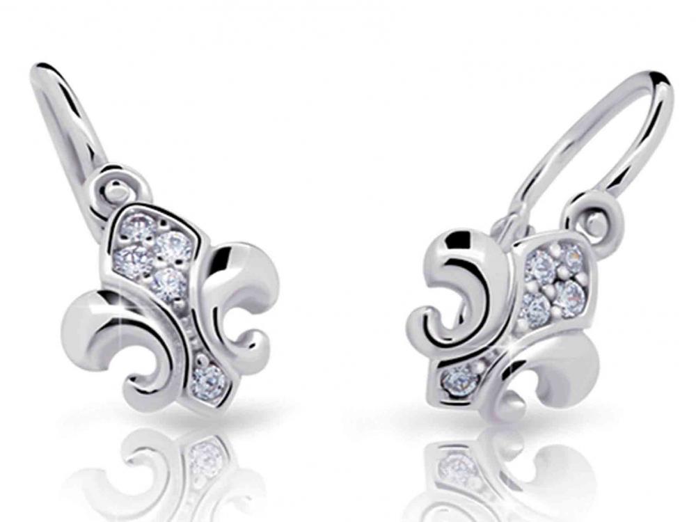 Dětské diamantové náušnice, bílé zlato brilianty 4089031-0-0-99