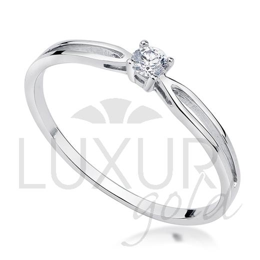 Zásnubní prsten bílé zlato se zirkonem vel. 52 585/1,05 gr P581 (1860175-0-50-1)