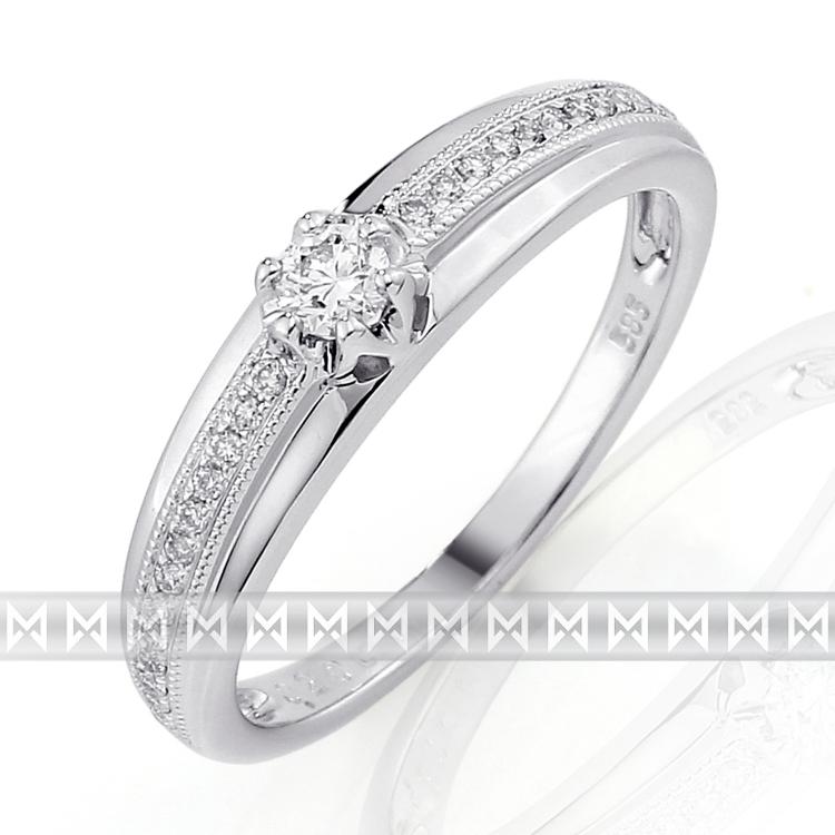 Luxusní diamantový prsten posázený mnoha diamanty (27ks) 3861769-0-57-99