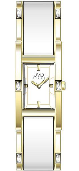 Šperkové zlacené elegantní dámské náramkové voděodolné hodinky JVD steel W26. 2