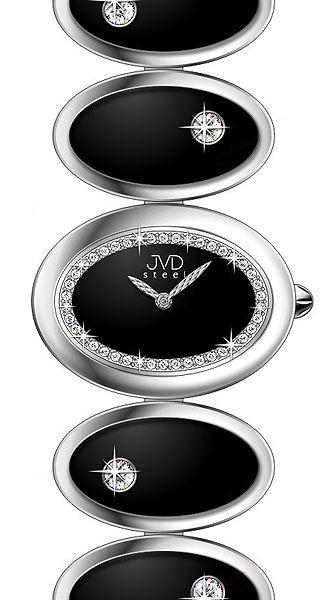 Šperkové luxusní keramické ocelové dámské náramkové hodinky JVD steel W21.2