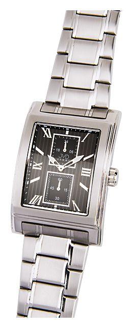 Ocelové hranaté nerezové náramkové hodinky JVD steel H01.2 5ATM