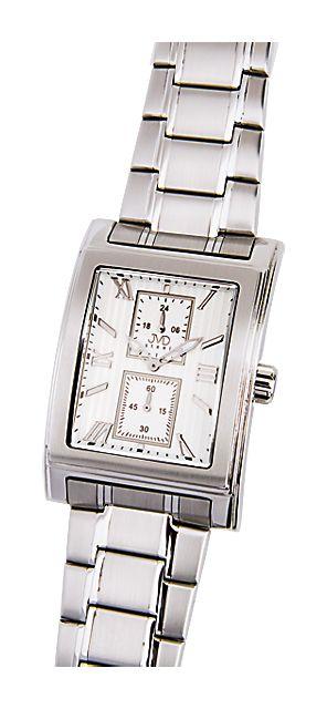 Ocelové hranaté nerezové náramkové hodinky JVD steel H01.1 5ATM