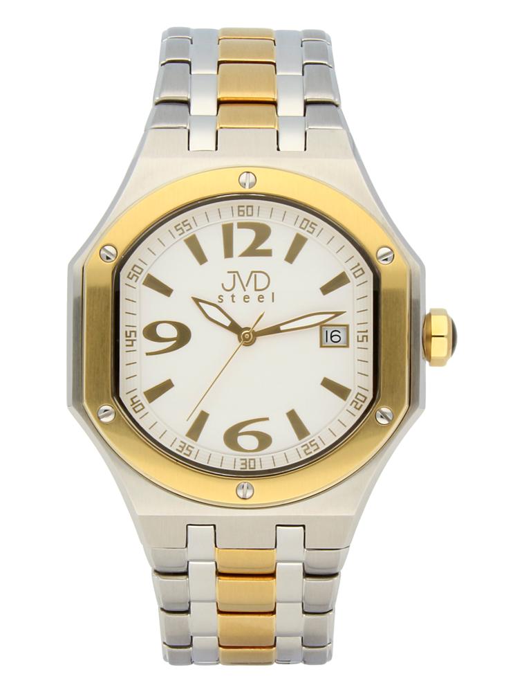 Pánský sportovní ocelový chronograf hodinky JVD steel C1128.6 - 3ATM