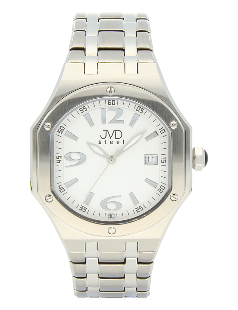 Pánský sportovní ocelový chronograf hodinky JVD steel C1128.4 - 3ATM