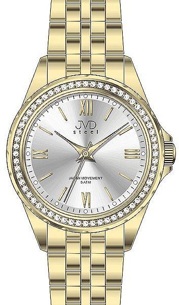 Dámské moderní náramkové hodinky JVD steel J4120.1 s ozdobnými kamínky e74868b9d3