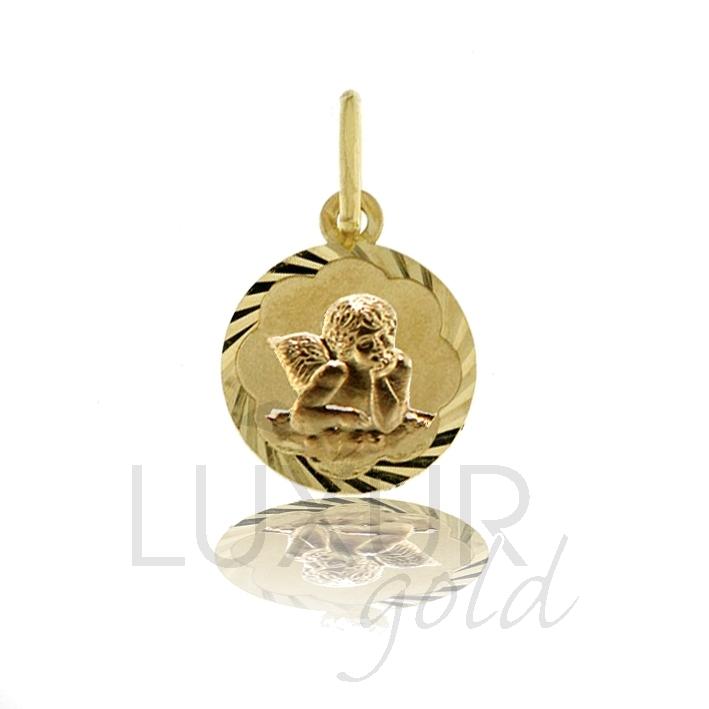 Zlatý přívěsek - zlatý andělíček - celozlatý anděl 585/0,62gr 2320098-1-0-0
