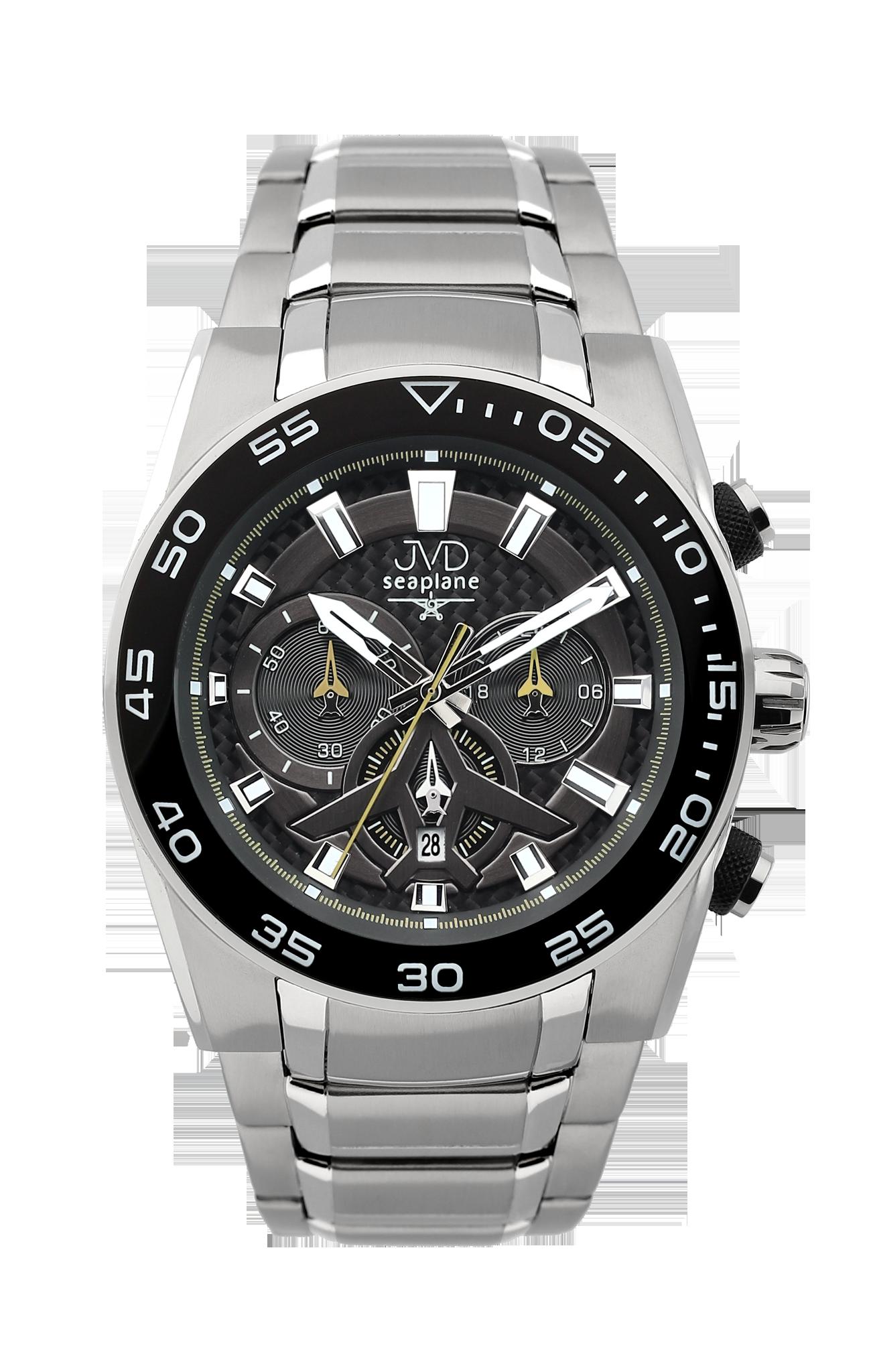 Luxusní vodotěsné sportovní hodinky JVD seaplane W49.1 chornograf se stopkami