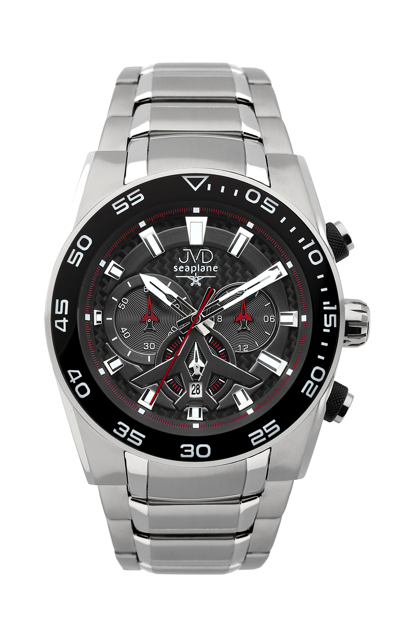 Luxusní vodotěsné sportovní hodinky JVD seaplane W49.3 chornograf se stopkami