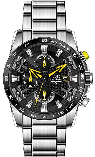 Luxusní vodotěsné sportovní hodinky JVD seaplane W51.2 chornograf se stopkami