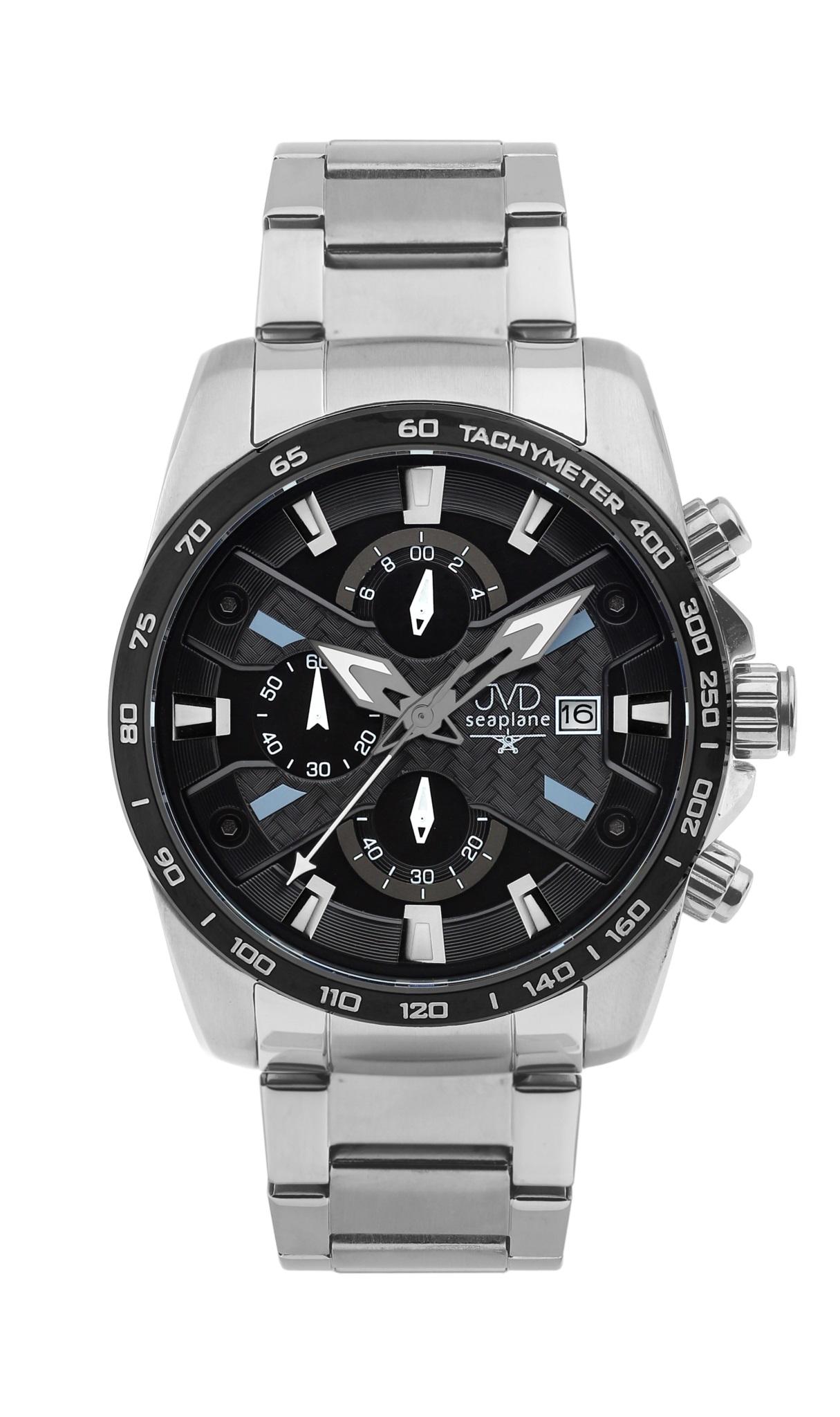Luxusní vodotěsné sportovní hodinky JVD seaplane W51.3 chornograf se stopkami