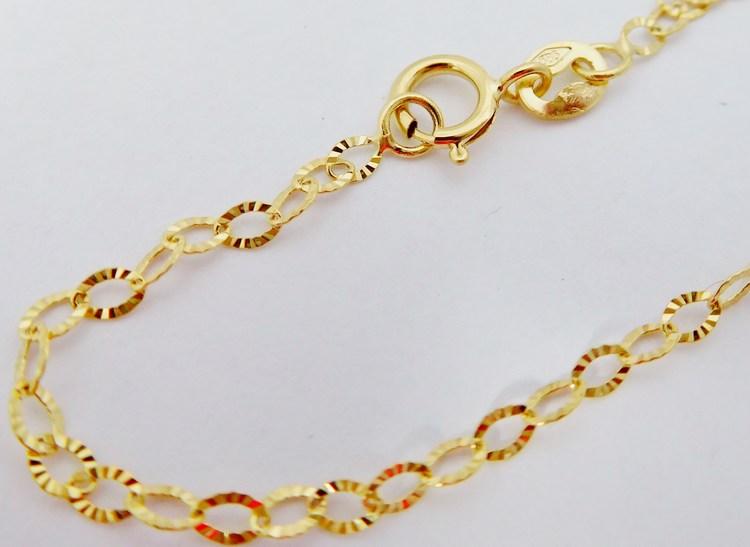 Zlatý dámský náramek s gravírováním se vzorem 585/0,55gr 18cm H116
