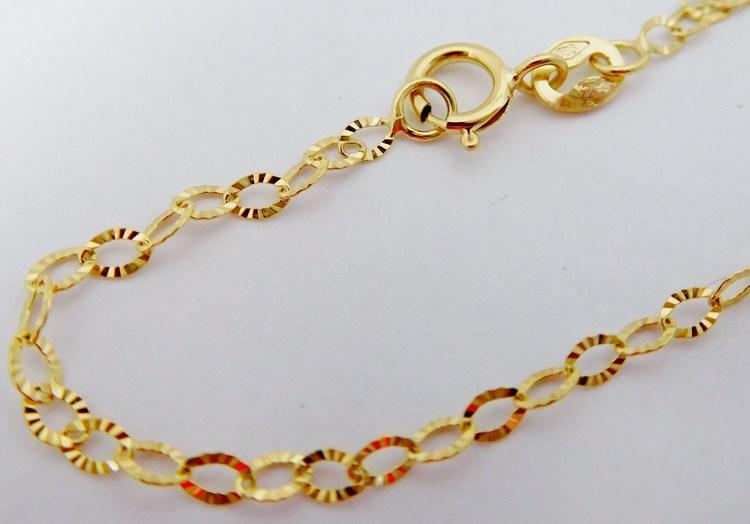 Gravírovaný náramek ze žlutého zlata se vzorem 585/0,55gr 18cm H117