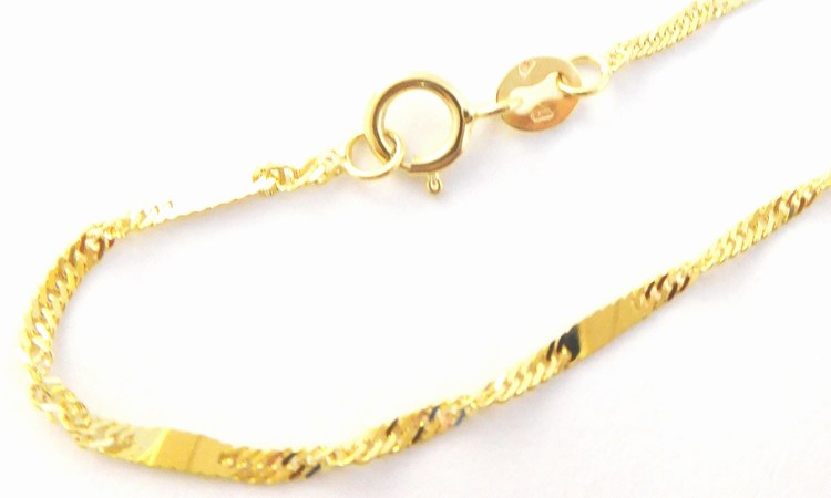 Zlatý pevný silný mohutný řetízek s destičkami 585/1,89gr 50cm H131