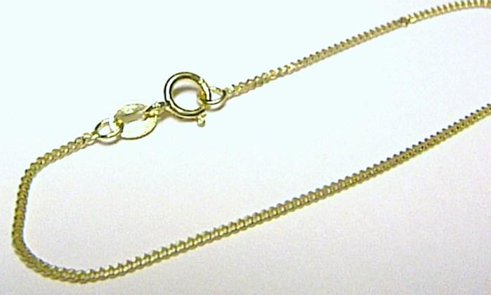 Zlatý pevný dámský přívěskový řetízek 585/1,43gr 40cm H133
