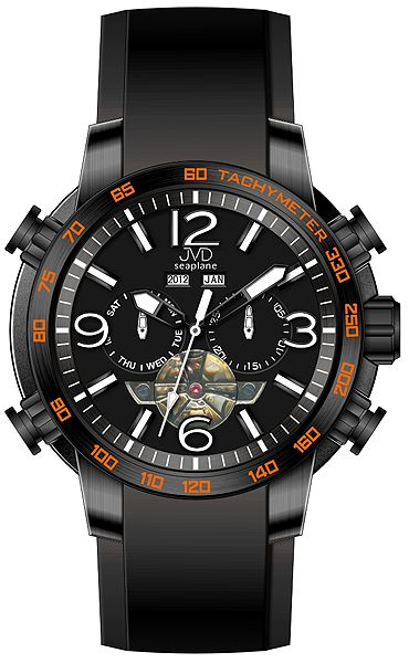Vodotěsné chronograf hodinky JVD Seaplane W50.2 10ATM AUTOMATY (bez baterie)