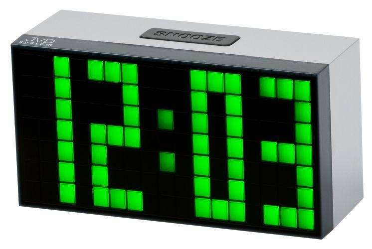 Svítící moderní digitální budík JVD SB2083.3 s zelenými číslicemi NOVINKA 2014