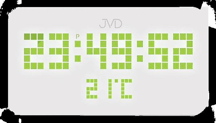 Hranaté digitální designové svítící LED hodiny SB2178.2 se zelenými číslicemi
