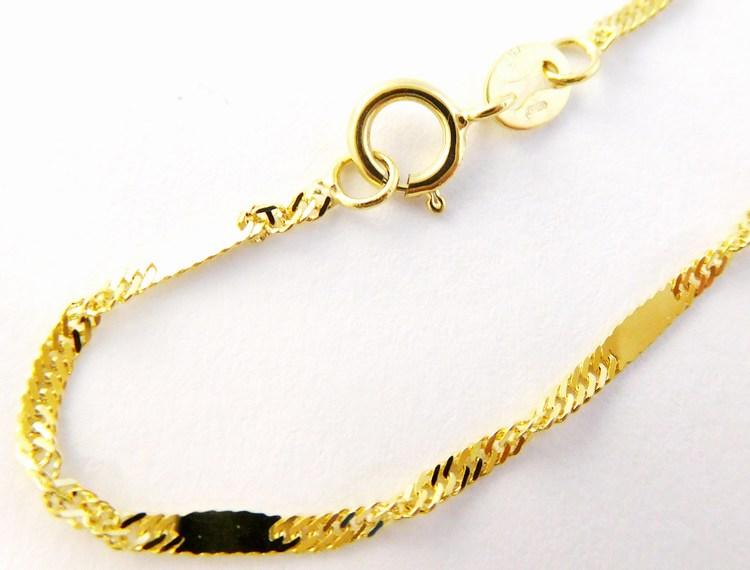 Silný točený mohutný zlatý řetízek (vhodný i na přívěsek) 585/1,94gr 50cm H162