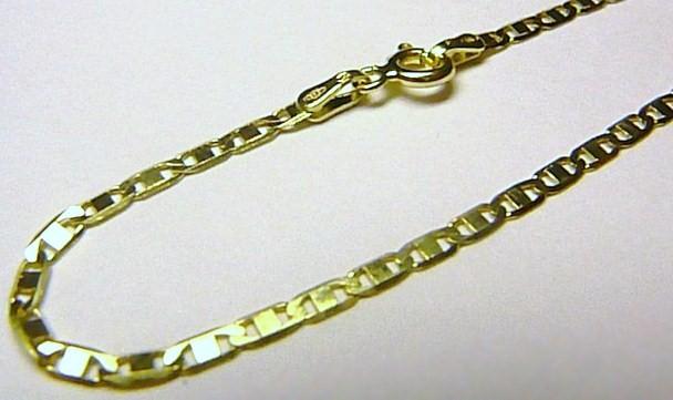Mohutný pevný luxusní zlatý dámský náramek 19cm 585/1,52gr H163