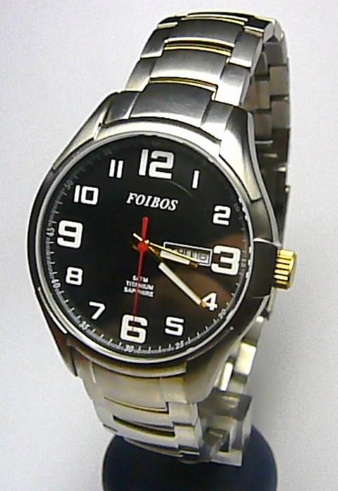 Titanové luxusní vodotěsné odlehčené hodinky Foibos 90713G 5ATM SAFÍROVÉ SKLO