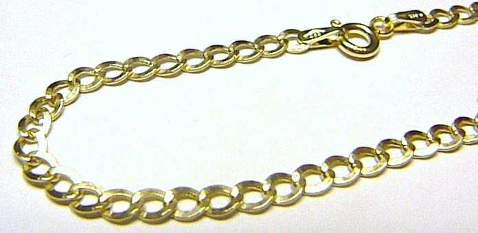 Pánský mohutný zlatý řetěz extra PRODLOUŽENÝ šířka 3,5mm 585/2,95gr 55cm H204