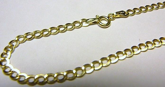Pánský mohutný silný zlatý řetěz (řetízek) 585/2,70gr 50cm H194
