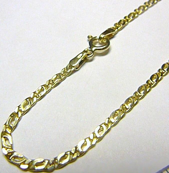 Pánský mohutný silný zlatý řetěz (řetízek) 585/2,23gr 50cm H206