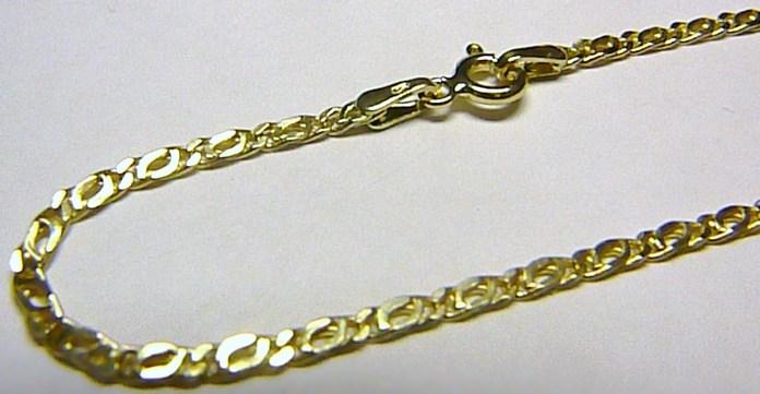 Pánský mohutný silný zlatý řetěz (řetízek) 585/2,41gr 55cm H207